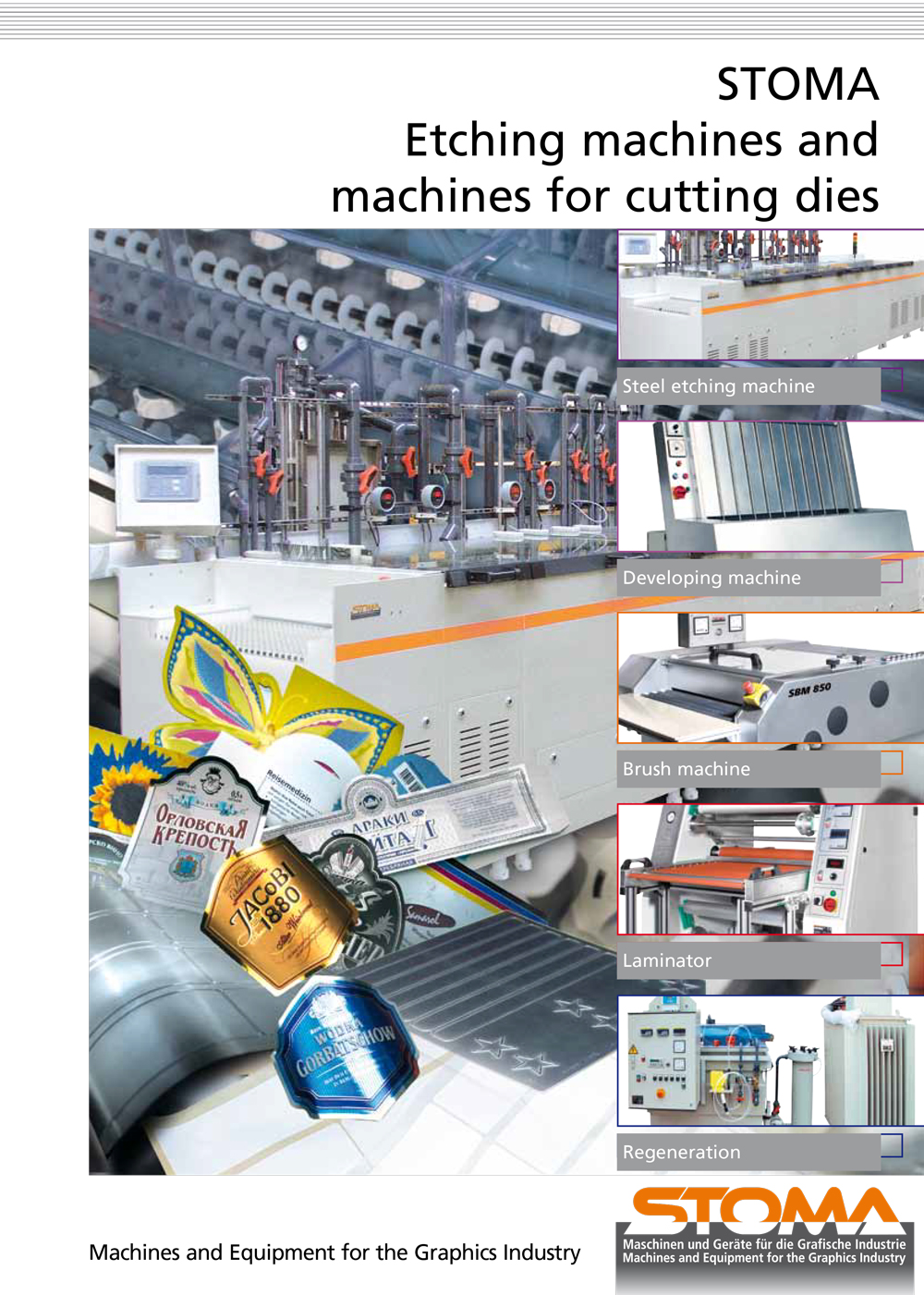 STOMA Etching machines and machines for cutting dies